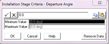 Departure Angle Criterion – Values
